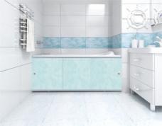 Экран под ванну «Премиум А» облака голубые - 1480 мм