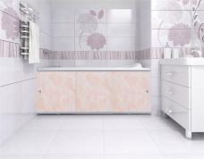 Экран под ванну «Премиум А» облака розовые - 1480 мм