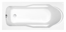 ВАННА акриловая SANTANA 140x70, ультра белый