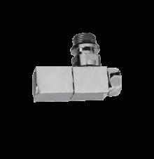 Вентиля для полотенцесушителя угловые 1/2 х 3/4 квадратный корпус (ХРОМ) (комплект 2 шт)