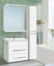Комплект мебели подвесной «Vako» 800 (тумба,раковина como ,колонна,шкаф зеркальный)