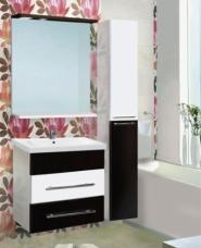 Комплект мебели подвесной «Vako» 600 (тумба,раковина Cersania 60 ,колонна,шкаф зеркальный)
