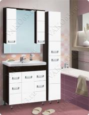 Варианты и габаритные размеры комплекта мебели для ванной комнаты Флора 1