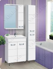 Варианты и габаритные размеры комплекта мебели для ванной комнаты Флора 2
