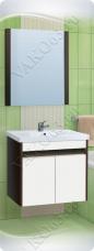 Варианты и габаритные размеры комплекта мебели для ванной комнаты Фортуна