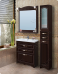 Варианты и габаритные размеры комплекта мебели для ванной комнаты Классика 5