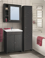 Варианты и габаритные размеры комплекта мебели для ванной комнаты Мокко