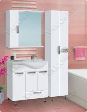 Варианты и габаритные размеры комплекта мебели для ванной комнаты Ника 1