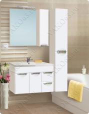 Варианты и габаритные размеры комплекта мебели для ванной комнаты Ника 10