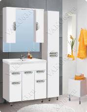 Варианты и габаритные размеры комплекта мебели для ванной комнаты Ника 2