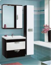 Варианты и габаритные размеры комплекта мебели для ванной комнаты Ника 3