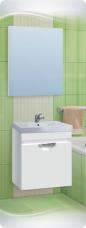 Варианты и габаритные размеры комплекта мебели для ванной комнаты Ника 4