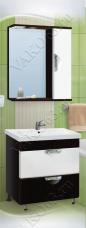 Варианты и габаритные размеры комплекта мебели для ванной комнаты Ника 5