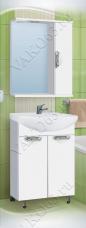 Варианты и габаритные размеры комплекта мебели для ванной комнаты Ника 6