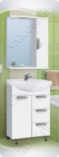Варианты и габаритные размеры комплекта мебели для ванной комнаты Ника 7