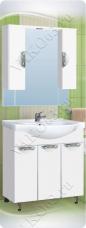 Варианты и габаритные размеры комплекта мебели для ванной комнаты Ника 8