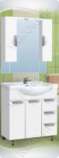 Варианты и габаритные размеры комплекта мебели для ванной комнаты Ника 9