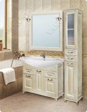 Варианты и габаритные размеры комплекта мебели для ванной комнаты Патина