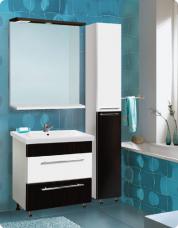 Комплект мебели «Vako» 600 (тумба,раковина Como 60 ,колонна,шкаф зеркальный)