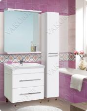 Комплект мебели  «Vako» 600 (тумба,раковина Cersania 60 ,колонна,шкаф зеркальный)