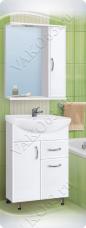 Варианты и габаритные размеры комплекта мебели для ванной комнаты Венеция 1