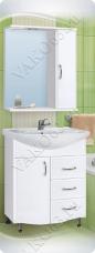 Варианты и габаритные размеры комплекта мебели для ванной комнаты Венеция 2