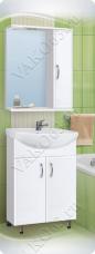 Варианты и габаритные размеры комплекта мебели для ванной комнаты Венеция 3