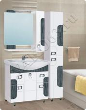 Варианты и габаритные размеры комплекта мебели для ванной комнаты Апогей 1