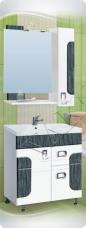 Варианты и габаритные размеры комплекта мебели для ванной комнаты Апогей 2
