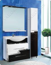 Варианты и габаритные размеры комплекта мебели для ванной комнаты Авангард