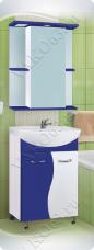 Варианты и габаритные размеры комплекта мебели для ванной комнаты Цветная