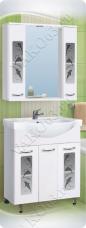 Варианты и габаритные размеры комплекта мебели для ванной комнаты Дельфин 1