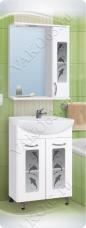 Варианты и габаритные размеры комплекта мебели для ванной комнаты Дельфин 2