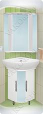 Варианты и габаритные размеры комплекта мебели для ванной комнаты Элегия