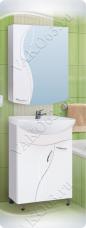 Варианты и габаритные размеры комплекта мебели для ванной комнаты Елена