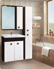 Варианты и габаритные размеры комплекта мебели для ванной комнаты Греция