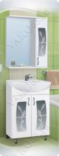 Варианты и габаритные размеры комплекта мебели для ванной комнаты Каламита
