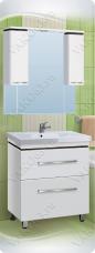 Варианты и габаритные размеры комплекта мебели для ванной комнаты Линия 1