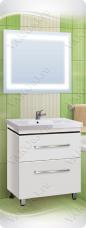 Варианты и габаритные размеры комплекта мебели для ванной комнаты Линия 2