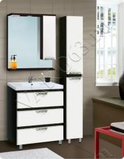 Варианты и габаритные размеры комплекта мебели для ванной комнаты Онтарио