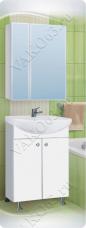 Варианты и габаритные размеры комплекта мебели для ванной комнаты Профиль
