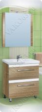 Варианты и габаритные размеры комплекта мебели для ванной комнаты Сафари