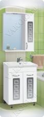 Варианты и габаритные размеры комплекта мебели для ванной комнаты Штрих