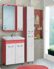 Варианты и габаритные размеры комплекта мебели для ванной комнаты Титан