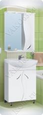 Варианты и габаритные размеры комплекта мебели для ванной комнаты Виктория