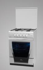 Газовая плита De Luxe New Line 606040.04г (крышка, чугунные решетки)