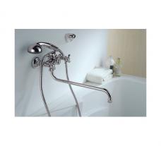 «Смарт-Кросс» смеситель д/ванны/душа, излив 350 мм