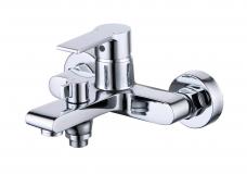 Смарт-Адамант смеситель для ванны и душа,  керам.переключатель, без аксессуаров, хром