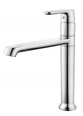 Смарт-Афалина смеситель для кухни высокий поворотный излив 209 мм , хром