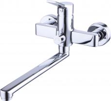 Смарт-Эдванс смеситель для ванны/душа, 250мм излив, керамический переключатель, с аксессуарами, хром